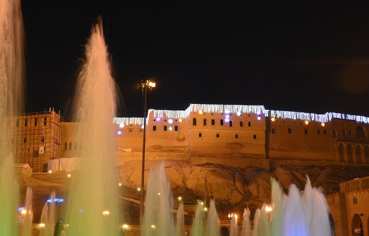 palace at night - Iraqi Kurdistan Cultural Discovery
