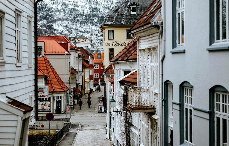 town street scene