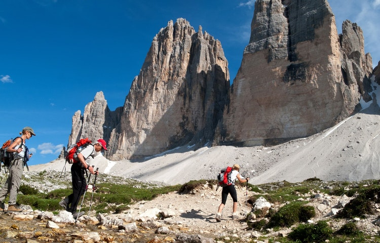 three tre cime hikers