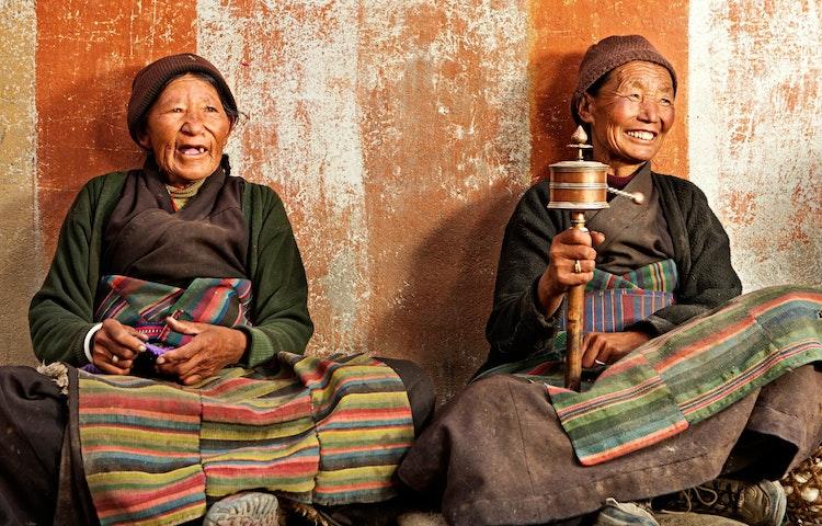 tibetan women - Nepal Mystical Mustang Trek