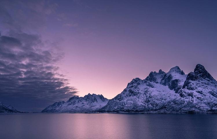 sunset fjord