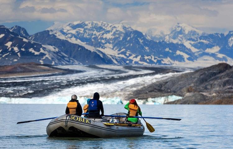 raft closeup - Alaska Alsek River Rafting