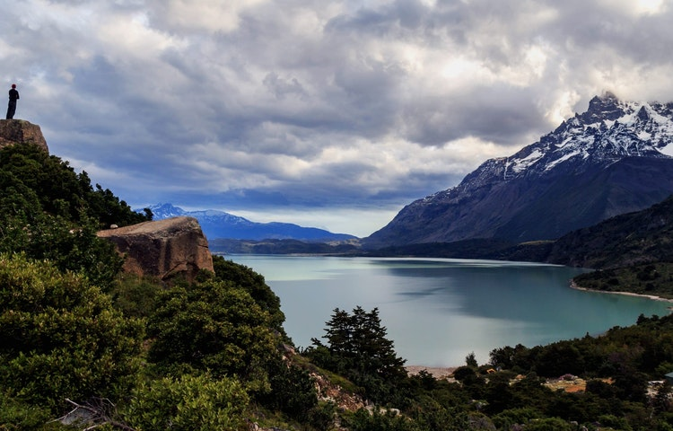 lone hiker on point - Chile & Argentina Ultimate Patagonia Hiking