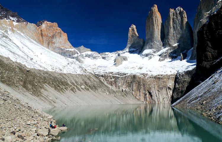 hikers at torres - Chile & Argentina Ultimate Patagonia Hiking