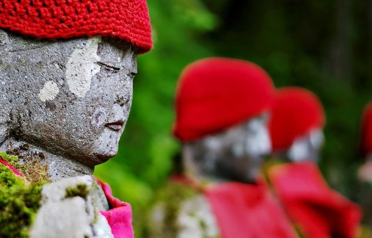 statuary - Sacred Lakes & Mountains of Northern Japan