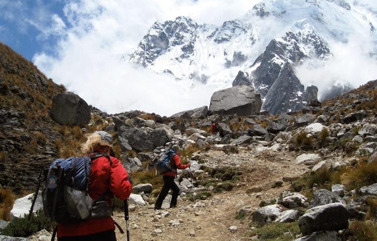 hikers on trail - Peru Cusco and Machu Picchu Trek