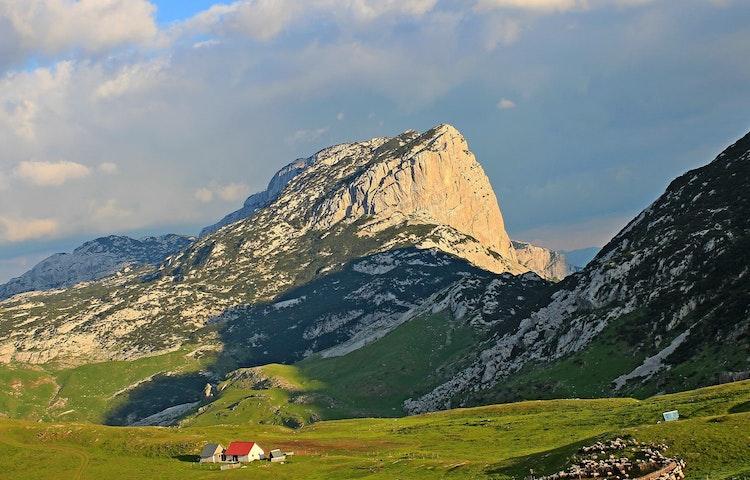 house and sugarloaf peak - Balkans Via Dinarica Hiking