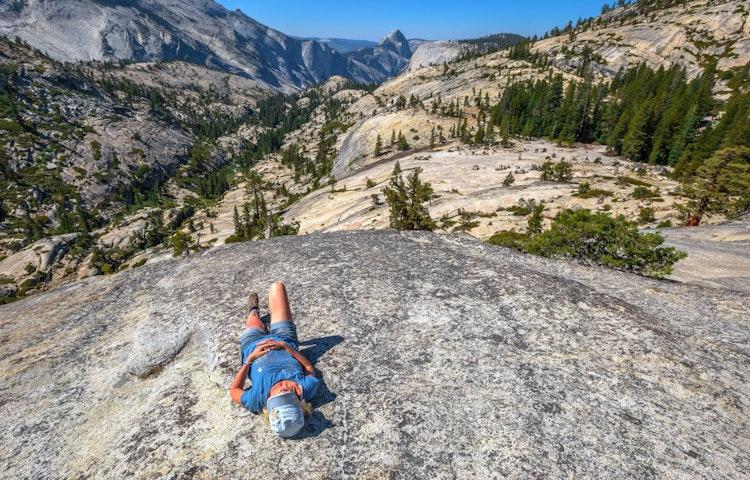 resting on granite