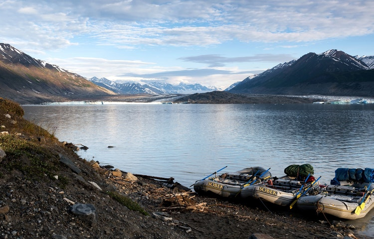 three rafts - Alaska Alsek River Rafting