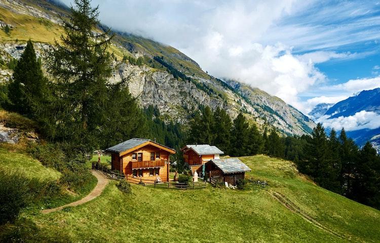 hillside farmhouse