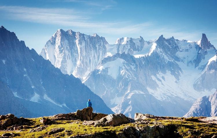contemplating the view - Alps Tour du Mont Blanc Hiking