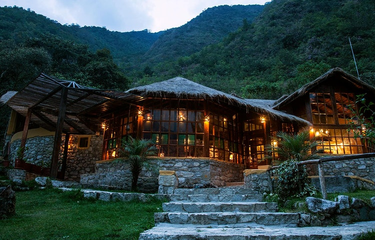 lodge in the evening - Peru Cusco and Machu Picchu Trek