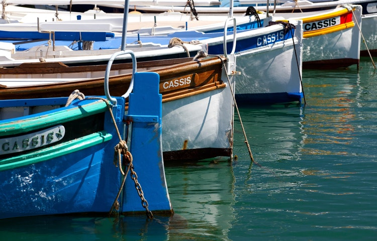 boat bows - France Provence Village to Village Hiking