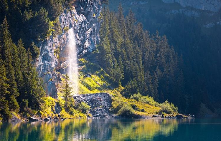 waterfall - Switzerland Bernese Oberland Trek
