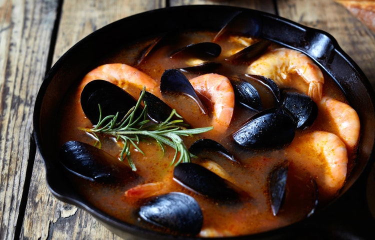 seafood stew - France Provence Village to Village Hiking