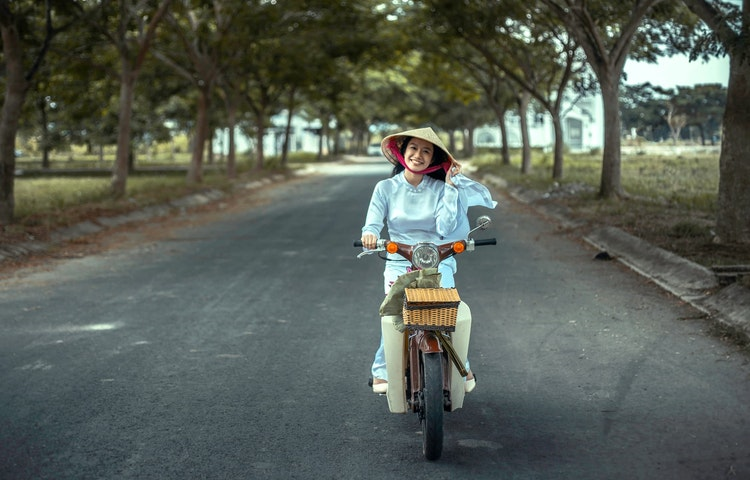 woman on cyclo - Laos, Cambodia & Vietnam Indochine Cultural Discovery