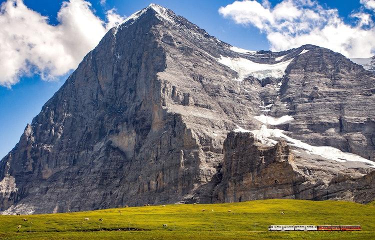 train below eiger - Switzerland Bernese Oberland Trek