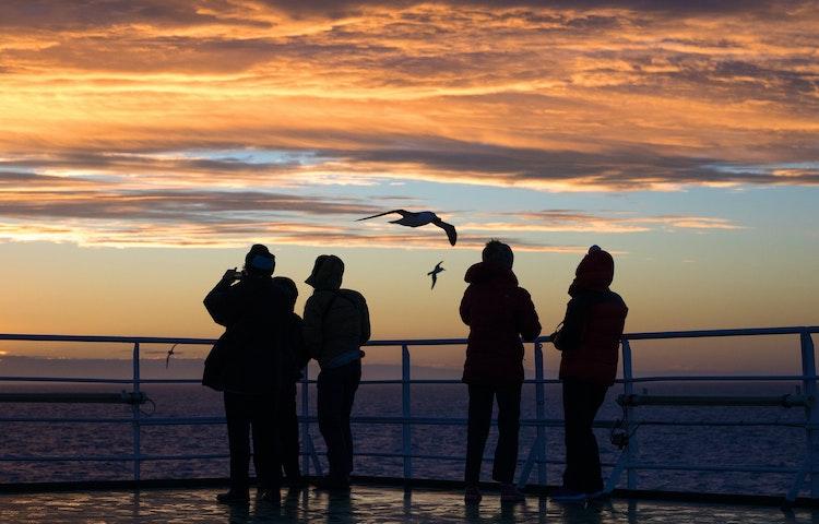 sunset - Antarctica In Search of the Emperor Penguin Adventure Cruising