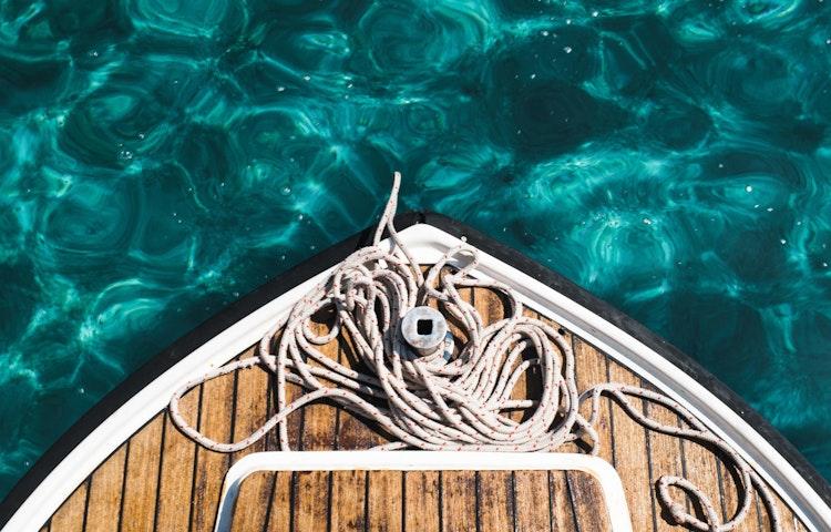 boat bow - Croatia Istria to Veneto Hiking