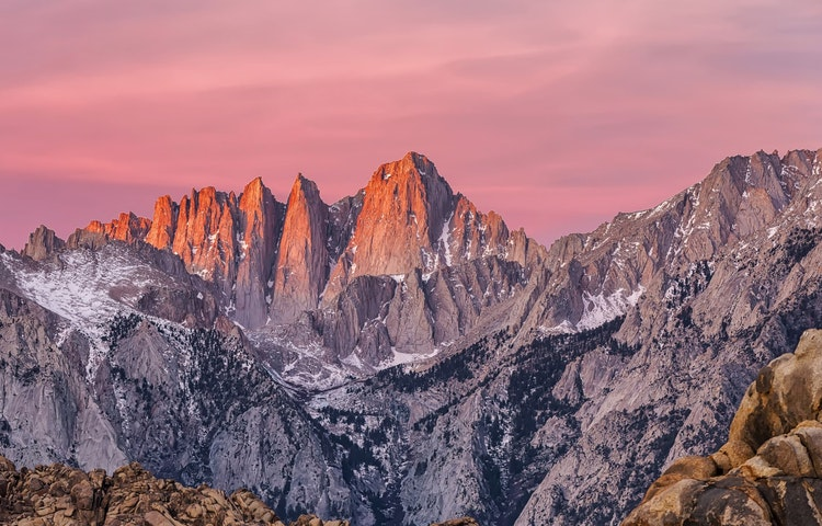 mount whitney sunset - California John Muir Trail Southbound to Mt. Whitney Trek