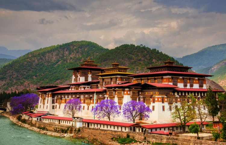 dzong and river
