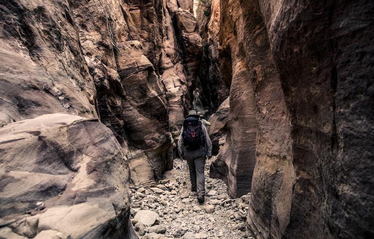 ravine hiker