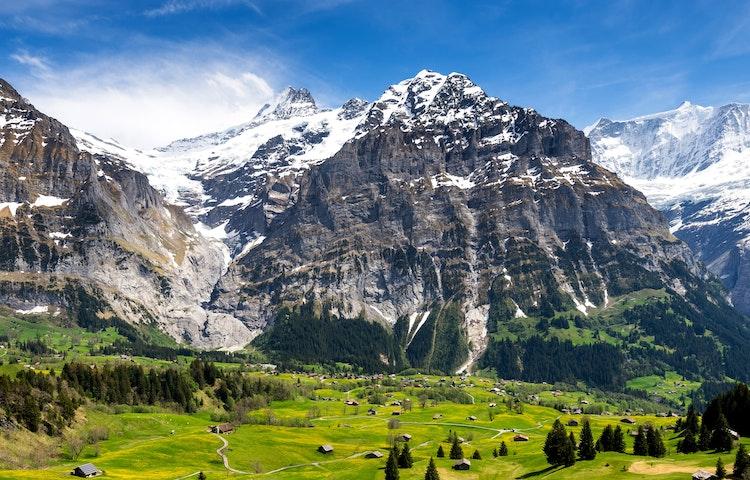 big mountain small houses