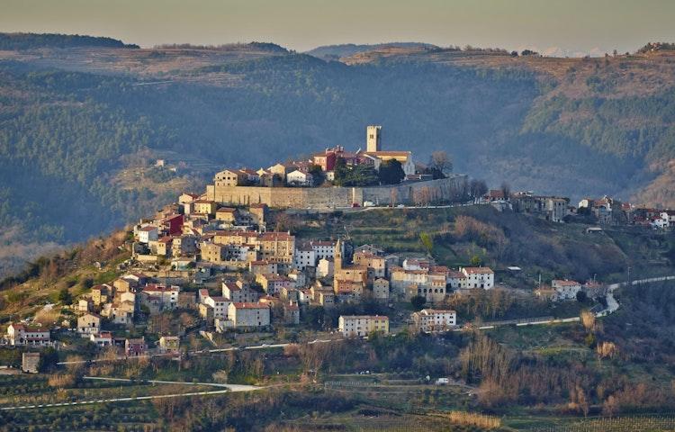 hilltop village - Croatia Istria to Veneto Hiking