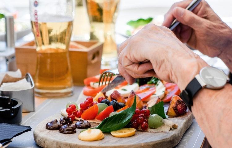 hands eating - Croatia Istria to Veneto Hiking