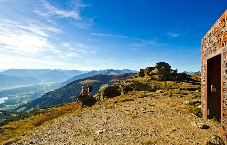couple enjoying view - Austria, Italy & Slovenia Alpe Adria Hiking