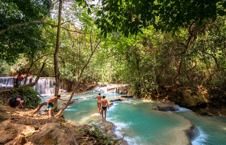 falls - Highlights of Laos Private Adventure