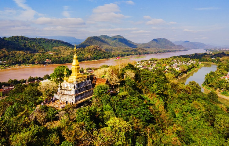 temple river - Highlights of Laos Private Adventure