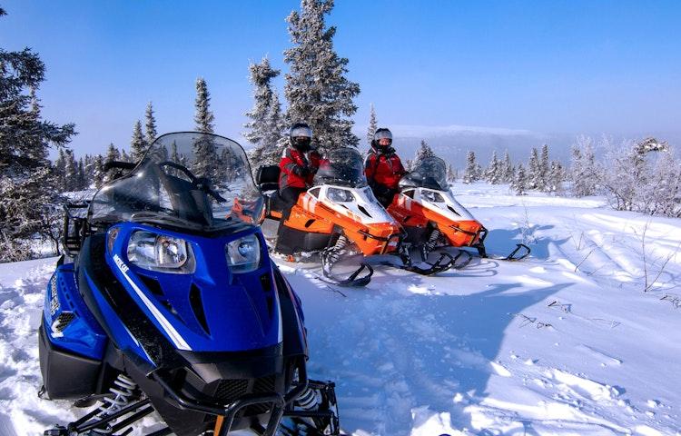 snowmobiles - Alaska Aurora Igloo Private Multi-Adventure