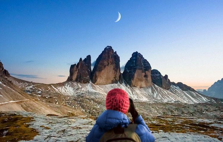 moon - Italy Heart of the Dolomites Hiking