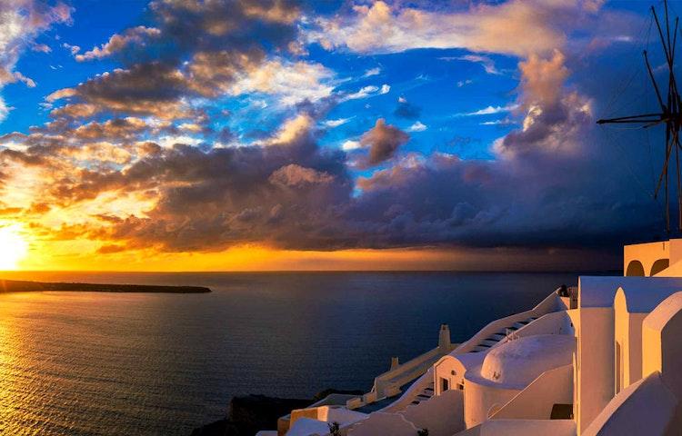 sunset - Greece Naxos & Santorini Private Adventure