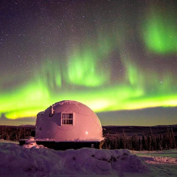 Alaska Aurora Igloo Private Multi-Adventure   MT Sobek